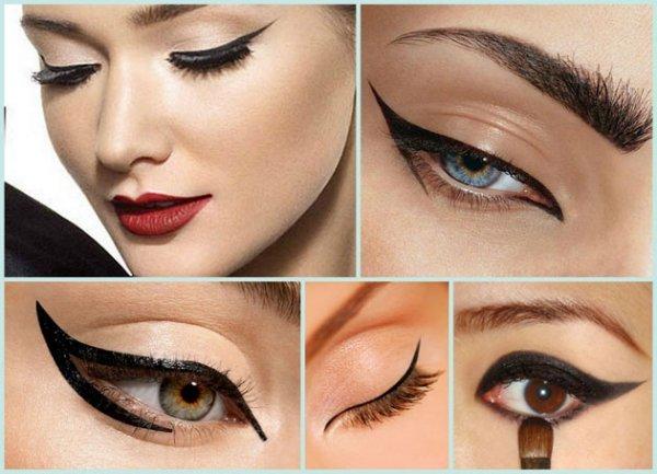 Як намалювати красиві стрілки на очах. Правила створення стрілок на очах
