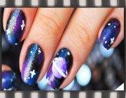 Космос (галактика) на нігтях