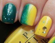 Омбре – манікюр з переходом кольору на одному нігті