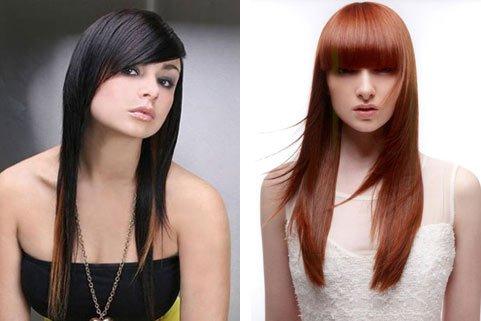 Стрижка «драбинка» на довге волосся