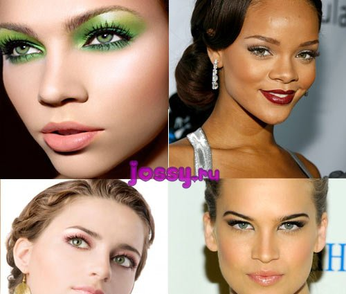 Вечірній макіяж для зелених очей   тіні вечірнього макіяжу для зелених очей