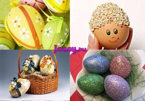 Як прикрасити яйця на Великдень   оригінальні прикраси яєць на Великдень