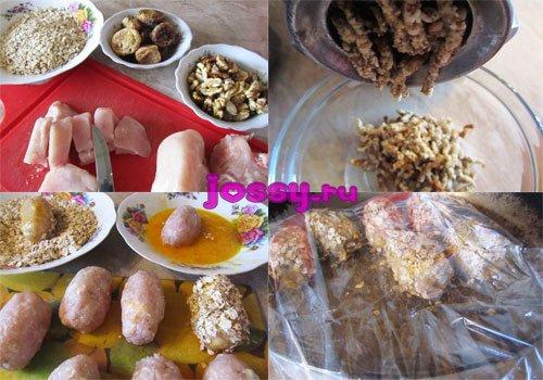 Блюдо для новорічного столу   куряче філе з начинкою