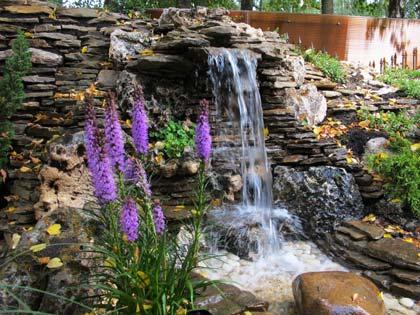 Декоративний водоспад своїми руками на дачі   робимо крок за кроком