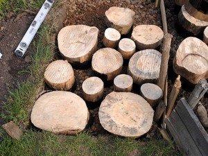 Доріжки з спилов: як влаштована доріжка з дерев\яних спилов і процес виготовлення дерев\яної доріжки з спилов своїми руками
