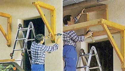 Как сделать козырек из дерева своими руками 50