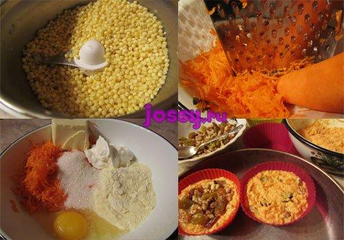 Морквяні мафіни: рецепт