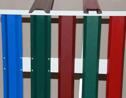 Паркан з евроштакетника (металевого паркану): установка огорожі