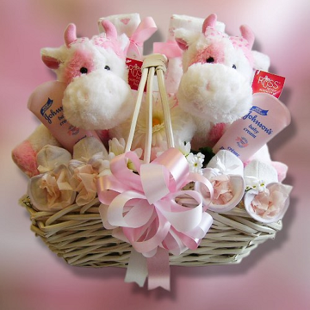 Тыкве, букет для новорожденных близняшек