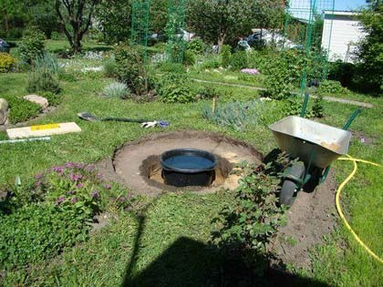 Садовий фонтан на дачі своїми руками   приклад побудови (+фото)