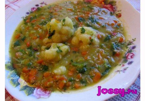 Суп гороховий   рецепт з кольоровою капустою