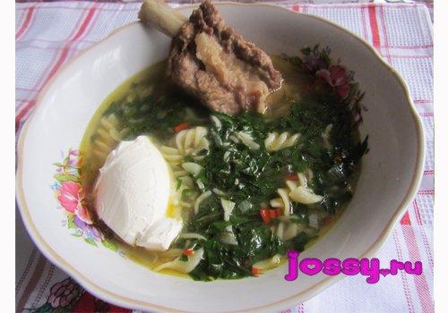 Суп з баранячих реберець з бурякової бадиллям   смачний рецепт