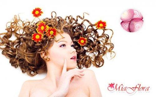 Цибульна маска для волосся сучасної красуні