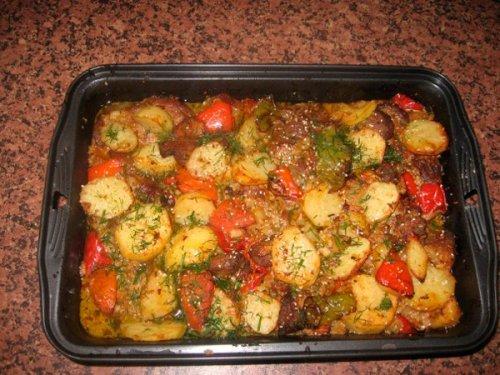 Кращі рецепти приготування м\яса з овочами