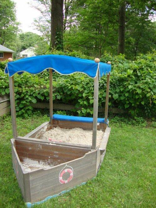 Робимо пісочницю самостійно: технологія самостійного будівництва дитячої пісочниці на дачі
