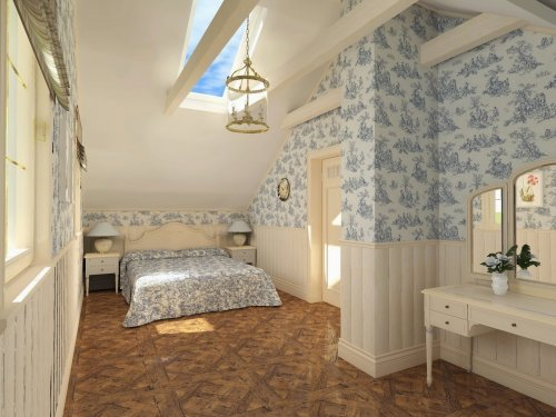 Шпалери в стилі прованс для спальні додадуть їй вишуканість
