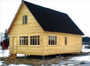 Все про вибір фундаменту для будинку з бруса