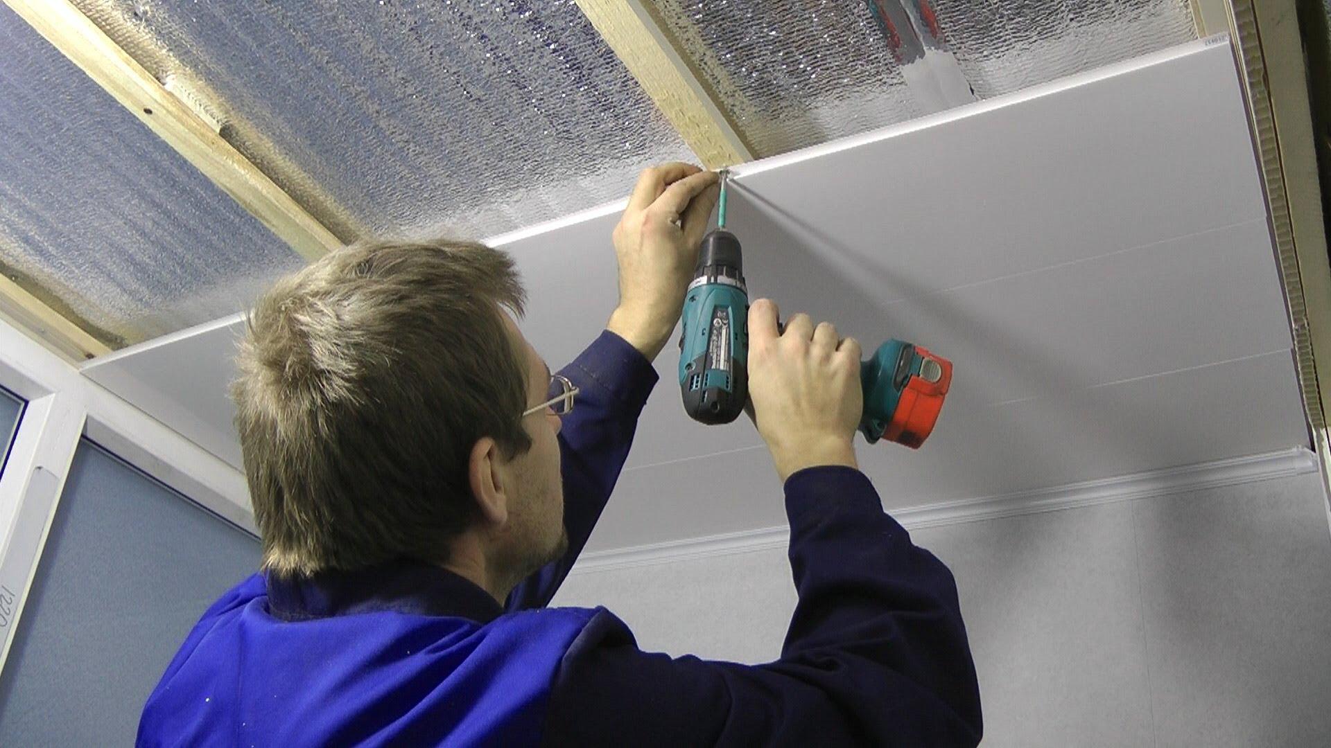 Как сделать своими руками монтаж потолка из МДФ-панелей 91