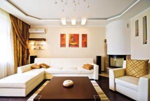 Як зробити стелю в залі або вітальні з гіпсокартону своїми руками