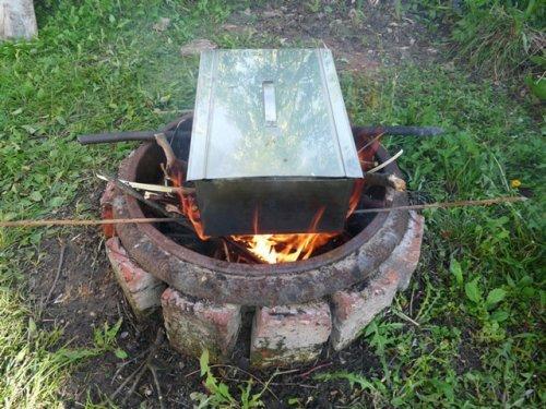 Гарячий метод копчення яловичини