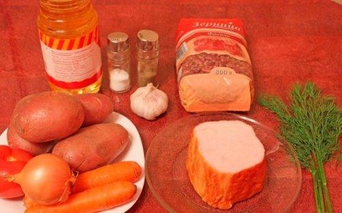 Смачний квасолевий суп з копчениями