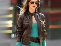 Шкіряні куртки для жінок