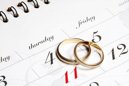 Сприятливі дні для весілля в 2015 році