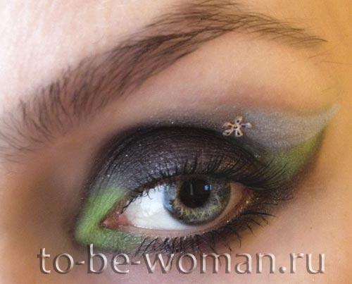 Вечірній макіяж для сірих очей