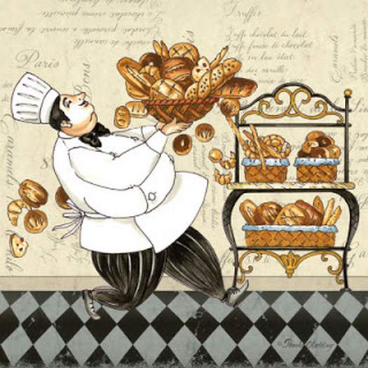 Картинки для декупажу кухаря(24 шт.)