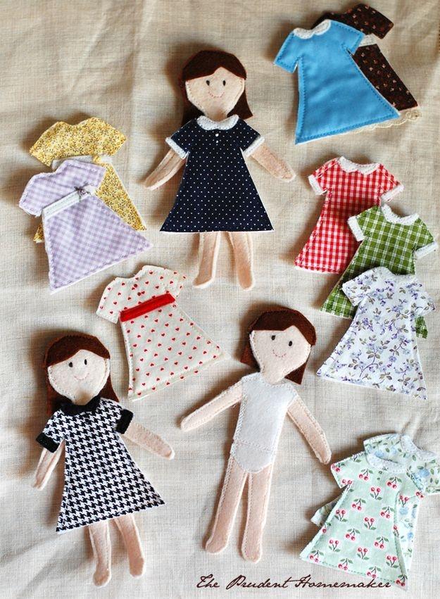 Как сделать куклу из фетра своими руками 93