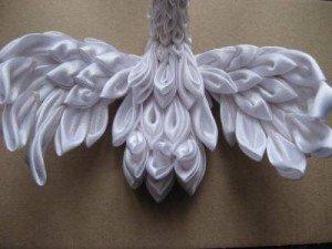 Робимо лебедя з атласних стрічок (фото і відео майстер клас)