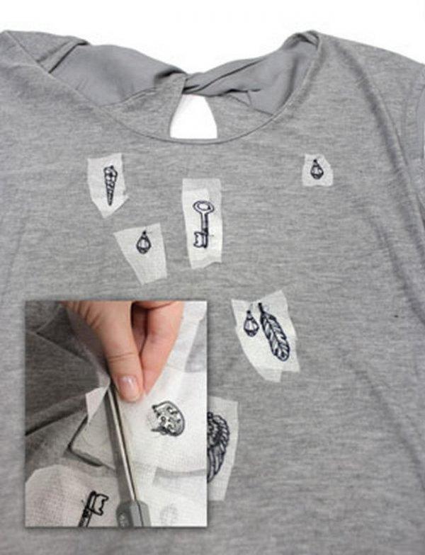 Цікава вишивка на футболці, майстер клас.