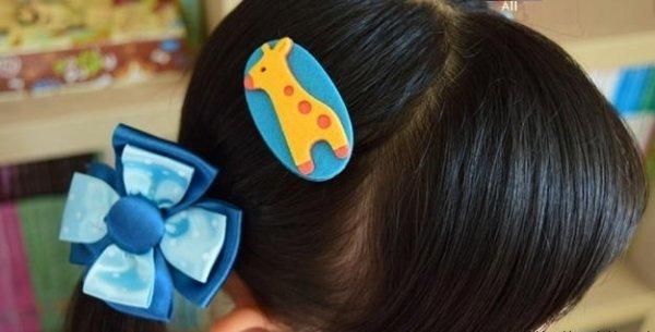 Дитячі шпильки для волосся з фетру своїми руками.