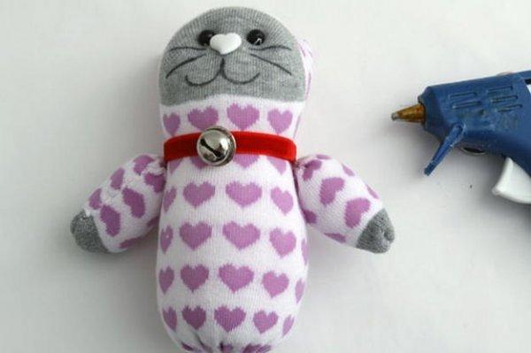 Іграшка кіт з носка детальний мк.