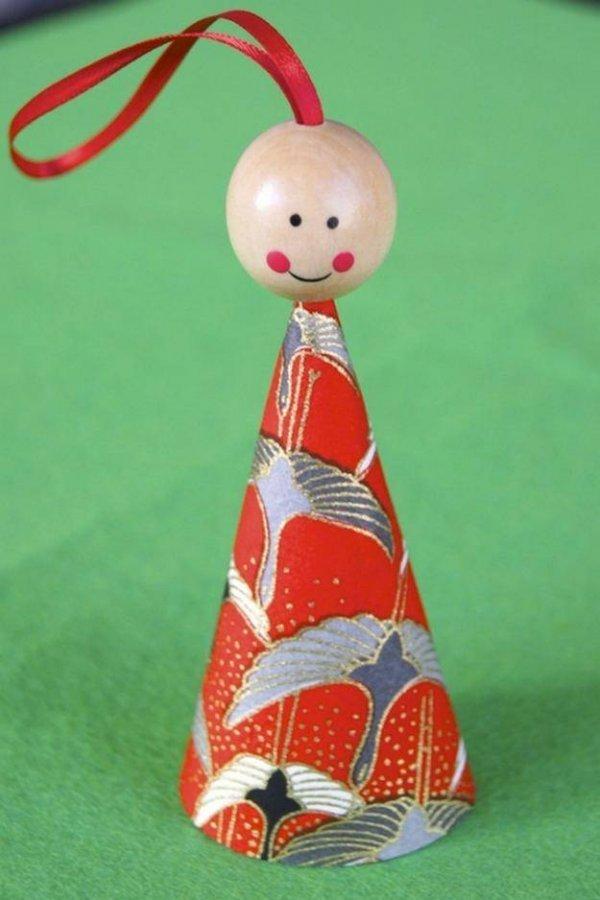 Іграшка на ялинку своїми руками. Янголятко МК.