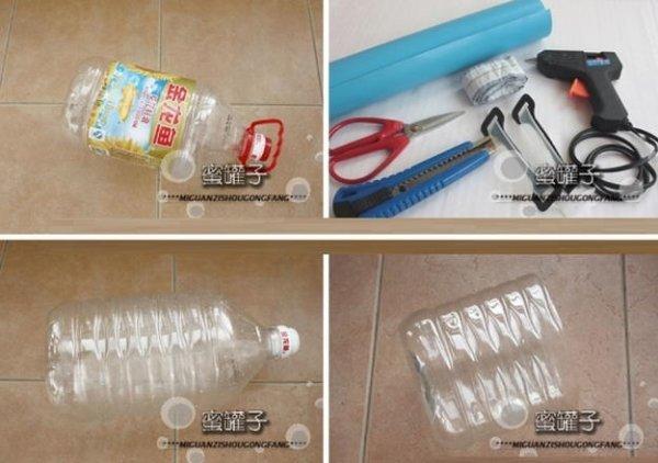 Кошик з ручками з пластикової пляшки.