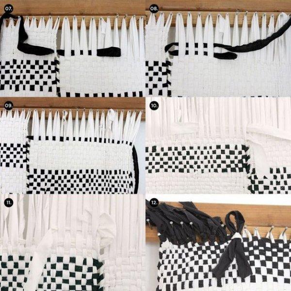 Плетений килимок із смуг тканини, майстер клас.
