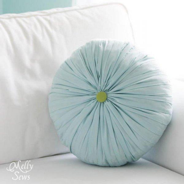 Прикрашаємо інтер\єр, шиємо круглу плісировану подушка своїми руками.