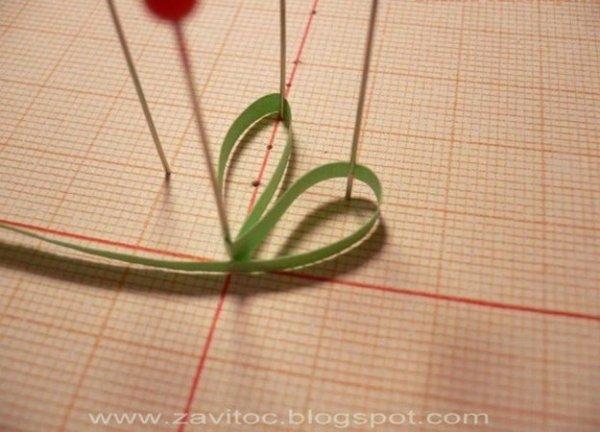 Робимо ажурні квіти в техніці квілінг, майстер клас.