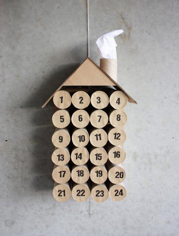 Робимо новорічний адвент календар з трубочок.