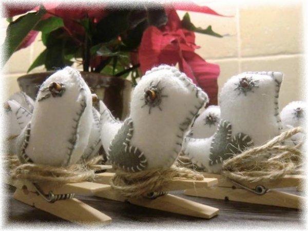 Робимо пташки з фетру на прищіпках своїми руками.