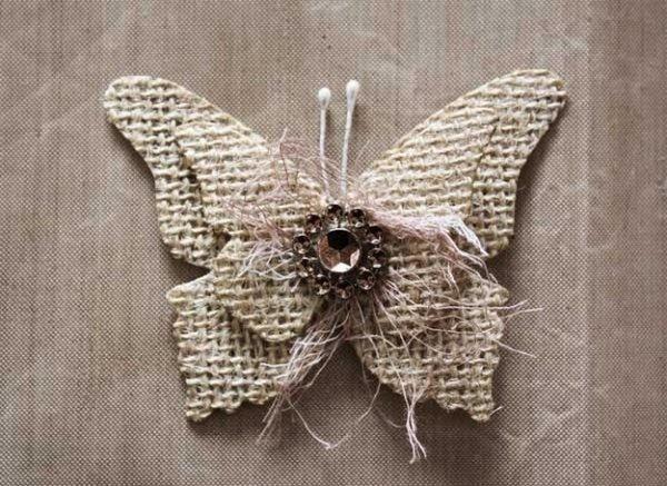 Вироби з мішковини, робимо дивну метелика.