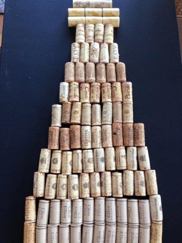 Вироби з винних пробок, робимо панно на стіну.