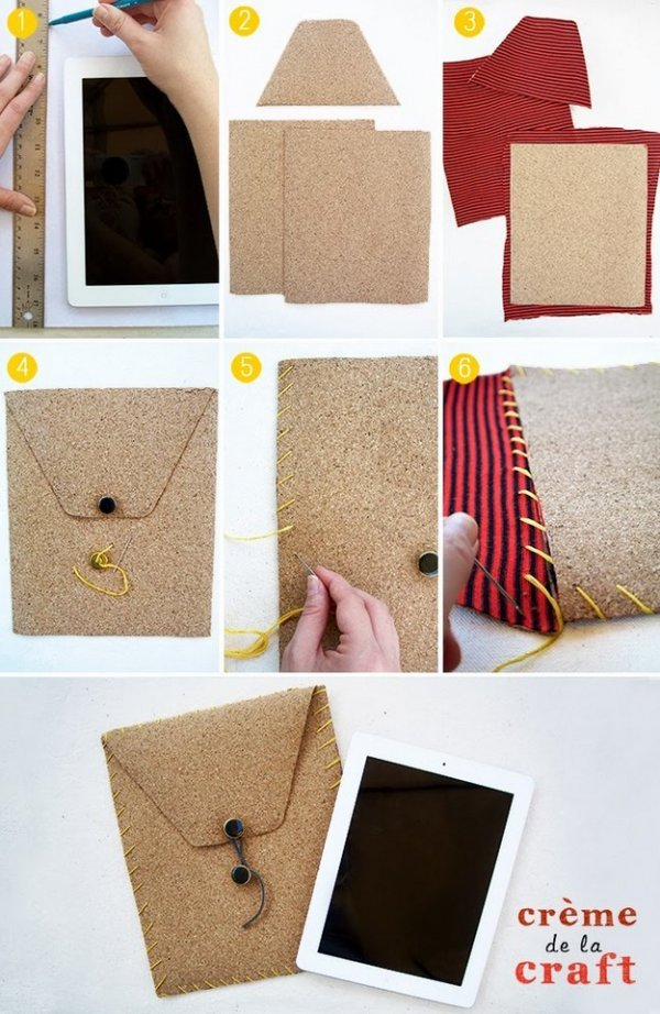 Як легко зробити чохол для планшета своїми руками?