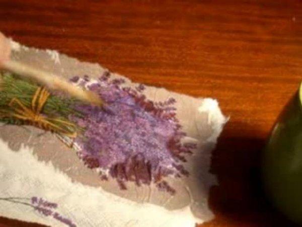 Як вирізати мокрим способом серветку?