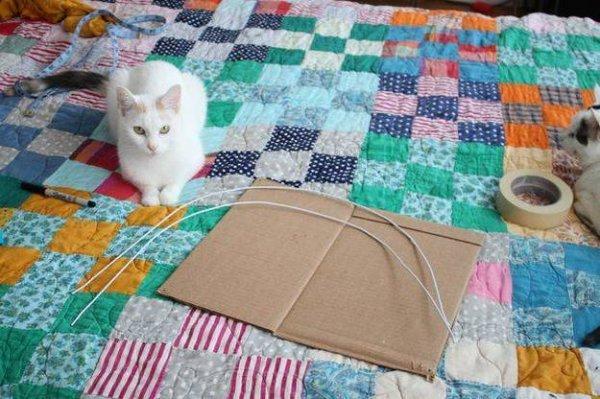 Як зробити будиночок для кішки своїми руками.