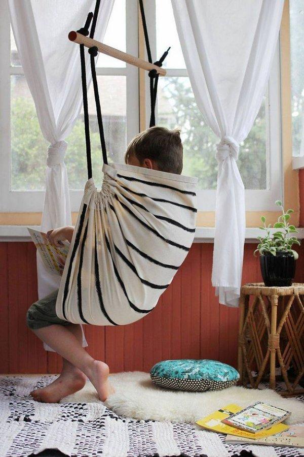 Як зробити підвісне крісло гамак своїми руками.