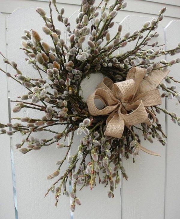 Як зробити вербний вінок? Ідеї для весняного декору.