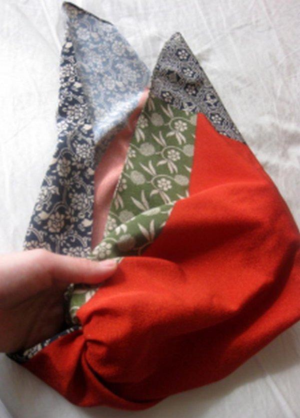 Японські сумки фурошики зі схемами.