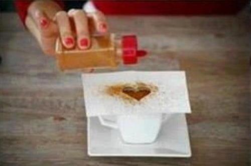 Як зробити малюнок серце на каву